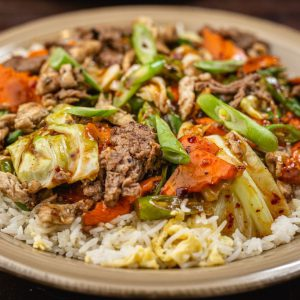 Meat Chop Suey Rice